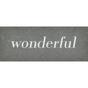 Classy Word Art Snippet Wonderful