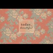 Classy Beautiful 4x6 Journal Card