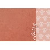 Classy- Classy 4x6 Journal Card