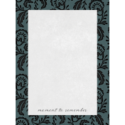 Classy Moment 3x4 Journal Card