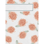 Classy Roses 3x4 Journal Card