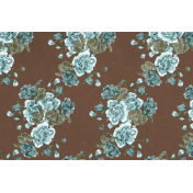 Classy Teal Roses 4x6 Journal Card