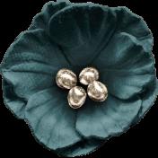 Classy Teal Flower 2