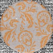 Classy Paisley Round Sticker