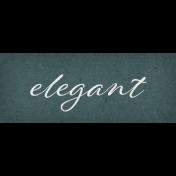 Classy Elegant Word Art Snippet