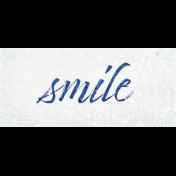 Sparkle & Shine Smile Word Art