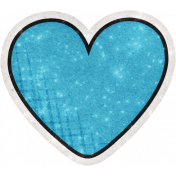 Sparkle And Shine Mini Sticker Heart