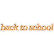 Backpack And Pencils Word Art Back to School
