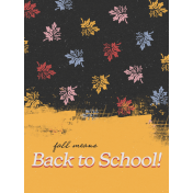 Backpack And Pencils Fall 3x4 Journal Card