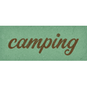 Camp Out: Lakeside Camping Word Art