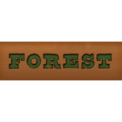 Camp Out Woods Forest Sign