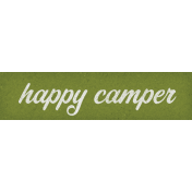 Camp Out Woods Word Art Happy Camper