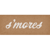 Camp Out Woods Word Art Smores