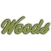 Camp Out Woods Word Art Woods