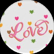 Sweet Autumn Love Round Sticker