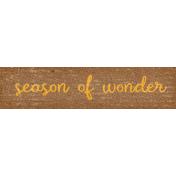 Sweet Autumn Season Word Art Snippet