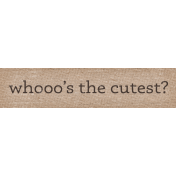 Sweet Autumn Whoos Word Art Snippet