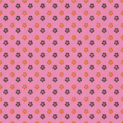 Sweet Autumn Pink Flowers Paper