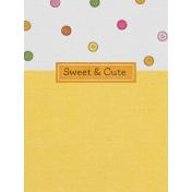 Sweet Autumn Button Journal Card 3x4