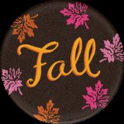 Sweet Autumn Mini Element Round Sticker Fall
