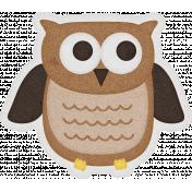 Sweet Autumn Mini Element Sticker Owl