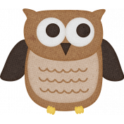 Sweet Autumn Mini Element Sticker Owl Alt