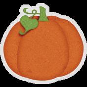 Sweet Autumn Mini Element Sticker Pumpkin