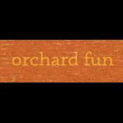 Sweet Autumn Mini Element Word Art Snippet Orchard
