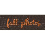 Sweet Autumn Mini Element Word Art Snippet Photos