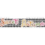 Sweet Autumn Mini Element Word Art Sweet Autumn