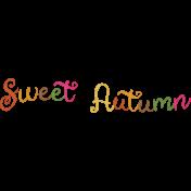 Sweet Autumn Mini Element Word Art Sweet Autumn Alt
