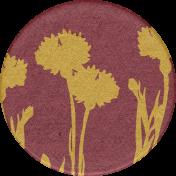 Chicory Lane Element Round Sticker Flowers