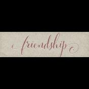 Chicory Lane Element Word Art Snippet Friendship