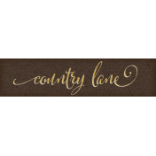 Chicory Lane Element Word Art Snippet Lane