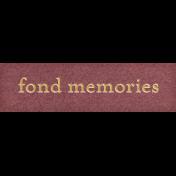 Chicory Lane Element Word Art Snippet Memories