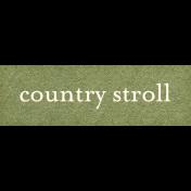 Chicory Lane Element Word Art Snippet Stroll