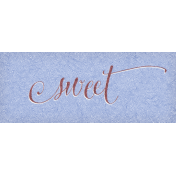 Chicory Lane Element Word Art Snippet Sweet