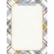 Chicory Lane Plaid 3x4 Journal Card