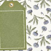 Chicory Lane Tag 4x4 Journal Card