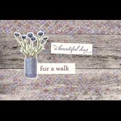 Chicory Lane Wood 4x6 Journal Card