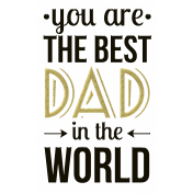 Father's Day Hipster Style Word Art 2