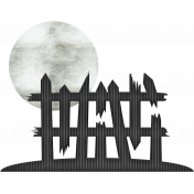 Halloween Paper Cuttings Moonlit Fence