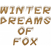 Winter Dreams of Fox--WordArt01