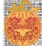 Halloween Paper Cuttings Of A Pumpkin