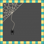 Halloween Paper Cuttings of a Halloween Frame for dark backgrounds