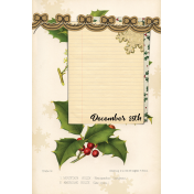 Merry and Bright Christmas- Journal Card 1