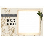 Simply Autumn- Photo Card