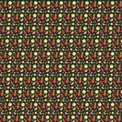Summer Lovin-Fruits Pattern Paper Black