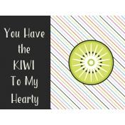 Summer Lovin-Journal Card Kiwi