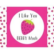 Summer Lovin-Journal Card Strawberry